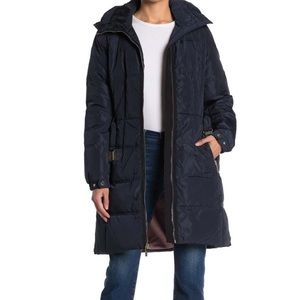Kate spade belted puffer coat